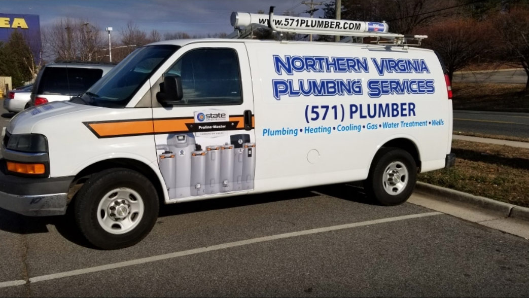 northern VA plumbing services truck banner - Home